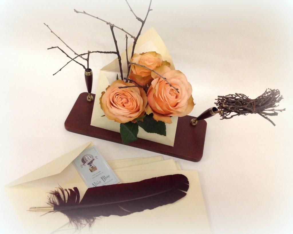 Scrisoare cu trandafiri